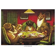 A Waterloo Poker Dogs Print by C M Coolidge