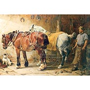 Passion & Patience Farrier Print by J.S. Noble