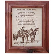 Don't Sell Your Saddle 10x12 Framed Verse on Leather