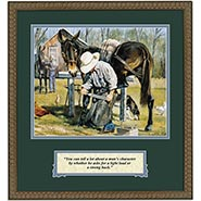 Framed Farrier & Mule Print