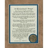 Horsewoman's Prayer Verse with Medallion - MATTED ONLY