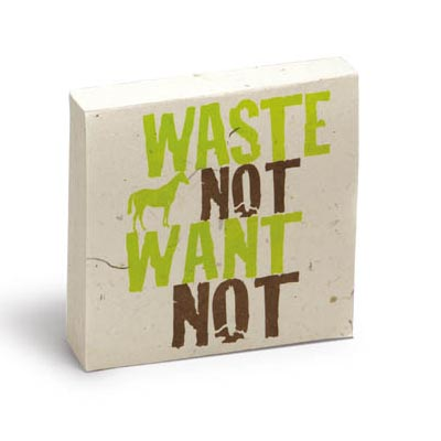 Horse Poo Note Pad - WASTE NOT WANT NOT