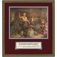 Washington at the Anvil Framed Print