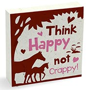 Horse Poo Note Pad - THINK HAPPY NOT CRAPPY!