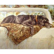 Pushed to the Limit Labrador Retriever Print by Barbara Shipman ONLY ONE AVAILABLE
