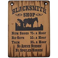 Distressed Wood Blacksmith Shop Sign
