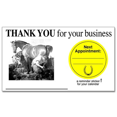 Thank You for your Business Card/Next Appointment Sticker Combo