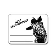 TRY ONE FREE! Horseface Next Appointment white Sticker