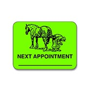 TRY ONE FREE! Next Appointment Green Farrier Sticker