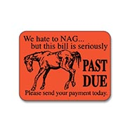 TRY ONE FREE! We Hate to Nag - This Bill is Seriously PAST DUE red Sticker