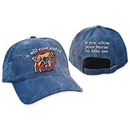 HALF PRICE It Will Cost Extra Cap - Navy *FLAWED EMBROIDERY*