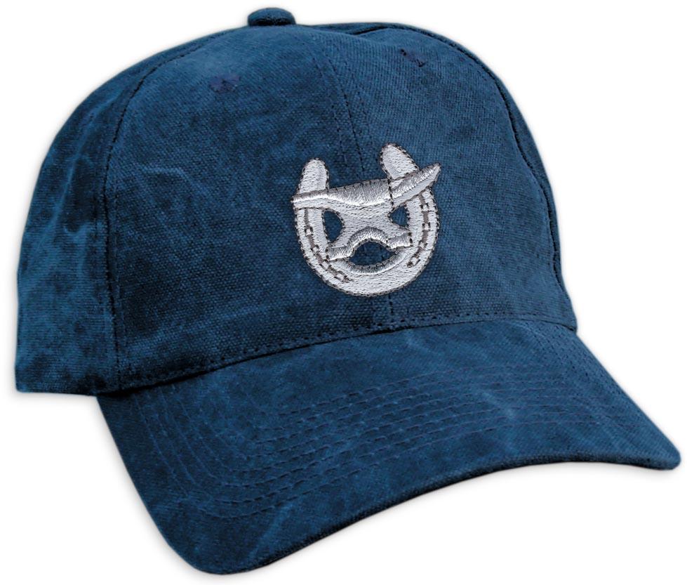 Embroidered Shoe   Anvil Navy Cap-www.hoofprints.com 67b4a7f743a