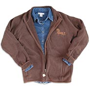 Sweater Fleece Barn Jacket w/Copper Mare Embroidery **SALE $20 OFF**