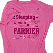 Sleeping with a Farrier Night shirt