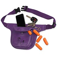 Treat Pouch with zippered cell phone compartment
