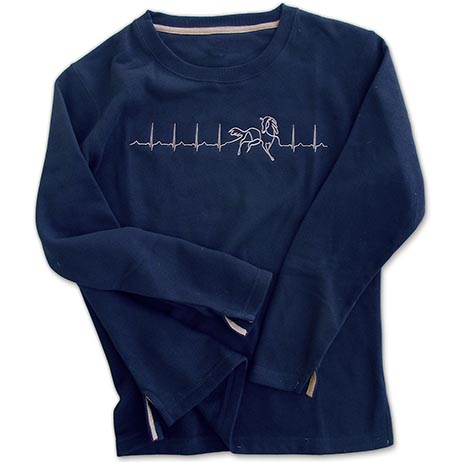 Heartbeat for Horses Navy Sweatshirt **HALF PRICE**