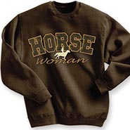 HORSE Woman Embroidered Tooled Leather Sweatshirt **$10.00 OFF**