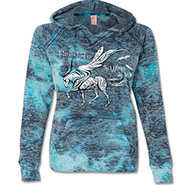Burnout Hoodie - Horses Lend Us the Wings we lack **HALF PRICE**
