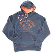 I TRAIN HORSES TO EAT CARROTS - Two Tone Hooded Sweatshirt **HALF PRICE**