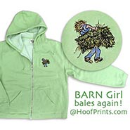 Garment Washed Full Zip Hoodie w/Barn Girl Embroidery ** HALF PRICE **
