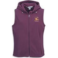 Hooded Eggplant Fleece Vest - Life Is Short, Ride Your Horse **SALE $10 OFF**