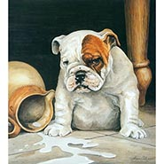 Trouble Bulldog Signed & Numbered Limited Edition Print by Alan Ellison