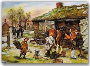 Holiday Farrier Scene