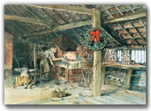 Blacksmith Shop With Wreath