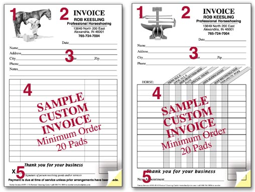 Wwwhoofprintscom for Invoice pads personalized