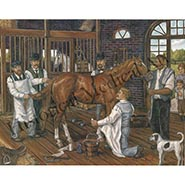 The Veterinarian Circa 1895 Signed, Limited Edition Print by Anne Crawford