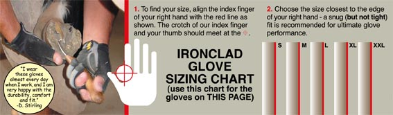 Ironclad Size Chart