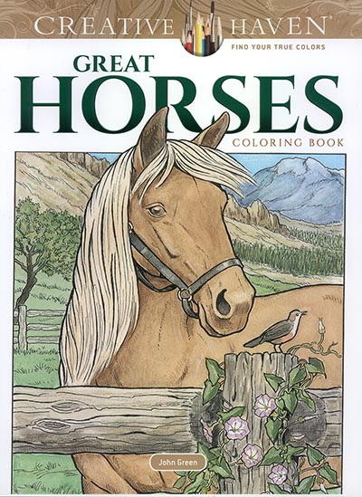 - Great Horses Coloring Book By Creative Haven - Www.hoofprints.com