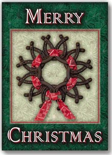 Horseshoe Wreath Card