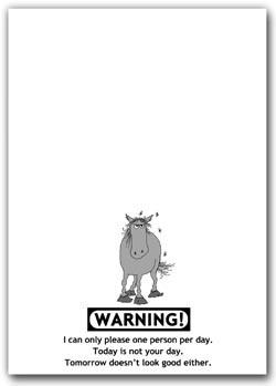 Note Pad - Warning