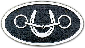 Oval License Plate
