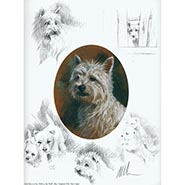 West Highland Terrier Signed & Numbered Limited Edition Print by Mick Cawston ONLY ONE AVAILABLE