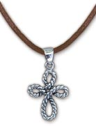 Rope Cross Necklace