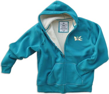 Turquoise Thermal Sherpa Lined Hood